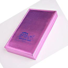 $enCountryForm.capitalKeyWord NZ - Professional 162 Colors Nail Art Blank Platter Book Purple gold Color Book Chart Salon PU Gel Polish Tips Display Show Card