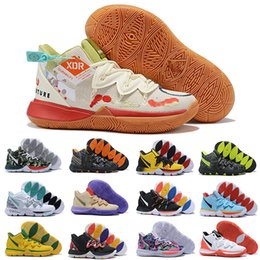 Wholesale celtics basketball resale online - Hot Sale Kyrie V Basketball Shoes For Men Irving S Ikhet Celtics Black Magic Pharaoh Taco Camo Sports Sneakers Trainers Size US EUR