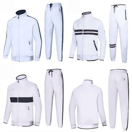 High Quality Embroidery Australia - Spring Autumn Men's 2Pcs Suits Set Casual Sports Suits embroidery Logo Sweatshirts Pant Mens Jacket Brand Clothing High Quality New for men