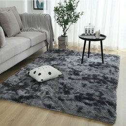 wholesale bedside tables NZ - New Bedroom plush bedside carpet living room coffee table mat gradient thick floor rug soft skin carpet encryption thick blanket