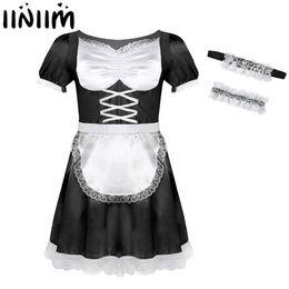 eff98e0e77 Sissies Maid Dresses Australia - iiniim Mens Sissy French Maid Uniform  Fancy Dress Sexy Funny Costumes