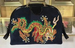 Discount cell phone cover boxes - 5A Womens 499621 Ophidia Dragon Embroidered Small Shoulder Bag,Zipper Pullers Canvas+Leather,Come with Box Dust Bag Free