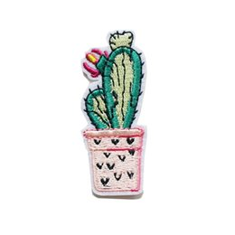 $enCountryForm.capitalKeyWord UK - Embroidery Sew Iron On Patch Cactus Flowers Potted Plant Patches Embroidered Badges For Bag Jeans Hat T Shirt DIY Appliques Craft Decoration