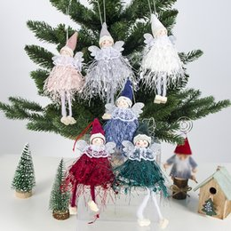 $enCountryForm.capitalKeyWord Australia - Cute Angel Doll Christmas Pendant Christmas Tree Hanging Ornament Decoration for Home New Year Gifts for Kids