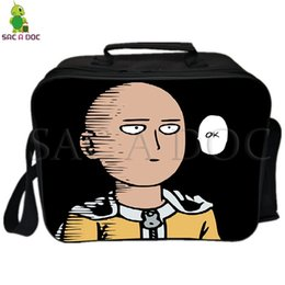 $enCountryForm.capitalKeyWord NZ - One Punch Man Saitama Lunch Bag Cooler Bag Insulation Thermal Lunch Fresh Keeping Ice Pack Picnic Camping Shoulder