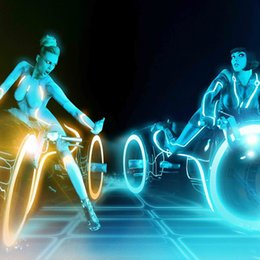 Sticker Designs For Motorcycle Australia - Tron Legacy Motorcycle Girls Decor Art Silk Print Poster 24x24inch