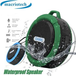 $enCountryForm.capitalKeyWord Australia - C6 Outdoor Sports Shower Portable Waterproof Wireless Bluetooth Speaker Suction Cup Handsfree MIC Voice Box For iphone 7 iPad PC Phone