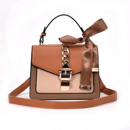 handbags scarfs Australia - Crossbody Bags for Women Luxury Handbags Designer Scarf Shoulder Bag Ladies Leather Purses New Three Colors