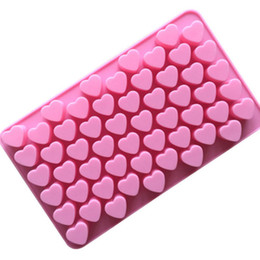 55 heart silicone mold UK - Easy release flex silicone heart mold 55 cavity bakeware mold for cake chocolate jelly pudding dessert gelatine candy molds