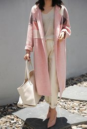 $enCountryForm.capitalKeyWord Australia - 2019 new explosion temperament wild popular double-sided cashmere coat female long section profile woolen coat female pink