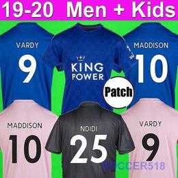 Pink black soccer shirt online shopping - BARNES SOYUNCU Leicester TIELEMANS VARDY MADDISON AYOZE City football shirts NDIDI RICARDO blue pink kids kits soccer jerseys GRAY