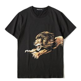 mens casual short sleeve t shirts Australia - Fashion Mens Design T Shirt Casual Lion Printing Design T Shirt Short Sleeves Men Women Hip Hop Tees