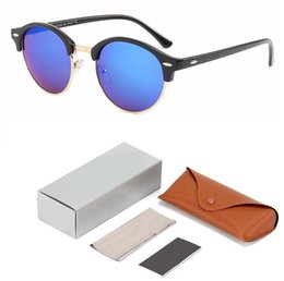 cheap box frames Canada - Cheap price Brand sunglasses round frame designer mans womans sunglasses retro uv protection classic ladies glasses With Case and box
