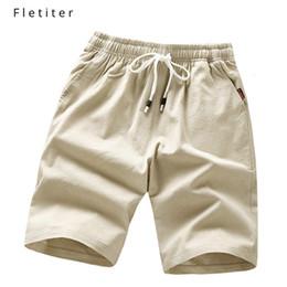 $enCountryForm.capitalKeyWord NZ - Cool Mens Slim Fit Solid Cotton Blend Soft Work Uniform Knee Length Beach Casual Shorts Summer Black Elastic Waist Shorts Male