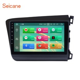 android car control 2019 - car dvd Seicane Android 8.1 8.0 9 inch Car Radio GPS Navigation Unit Player For 2012 Honda Civic Right Hand Drive Steeri
