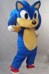 hot adults videos NZ - 2019 High quality hot Sonic the Hedgehog Mascot Costume Video Suits Dress Adult Outfits