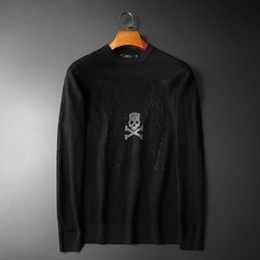 plug diamond NZ - New 19 Men Mastermind Skull Classic embroidery Diamonds Casual Sweaters pullover Asian Plug Size High quality