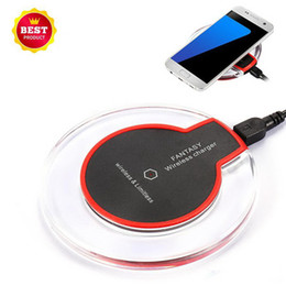 best mobile chargers wholesale Australia - Best Ultra-Thin Universal QI Wireless fast Charger New Ultra-Thin Crystal clear charge K9 5W Charger pad base Wireless For Mobile Phones
