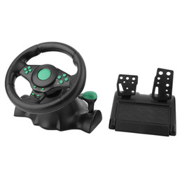 $enCountryForm.capitalKeyWord Australia - 180 Degree Rotation Gaming Vibration Racing Steering Wheel With Pedals For XBOX 360 For PS2 PS3 PC USB Car Steering Wheel