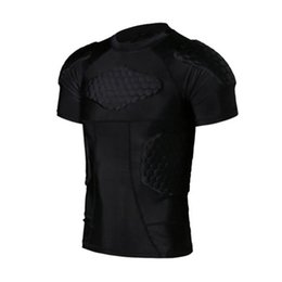 Wholesale Men Anti collision Quick Dry Training T shirt Short Basketball Jersey College Football Jerseys Body Protection