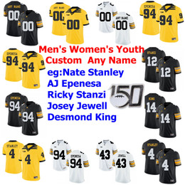 peyton jerseys UK - NCAA Iowa Hawkeyes College Football Jerseys Mens Peyton Mansell Jersey Ihmir Smith-Marsette Colten Rastetter Brandon Smith Custom Stitched