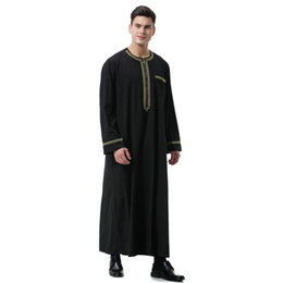 $enCountryForm.capitalKeyWord Australia - Men Ethnic Clothing Muslim Arab Middle Eastern Islamic Costumes Hui Men's Growth Gowns Fasting Men's Dresses India Islamic Clothes
