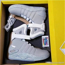led shoes for men Australia - 2018 Air Mag Back Future LED Shoes High Top Marty McFly Colorful LED Shoes For Men Luxury Grey Black Red Mags Limited Edition Sneakers Boots