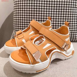 platforms shoes for women Australia - 2020 new Orange grey and magenta genuine leather women shoes Platform sandals for women contracted leisure with the packing hot sale
