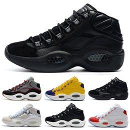 elite basketball Australia - New Designer Shoes Allen Iverson Question Mid Q1 Basketball Shoes Answer 1s Zoom Mens Athletic luxury Elite Sports Sneakers
