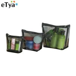 Organizer Cosmetic Bags Australia - eTya Fashion Women Cosmetic Bags Travel Transparent Makeup Pouch Case Zipper Storage Toiletry Beauty Wash Storage Organizer Set