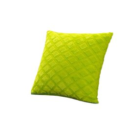 yellow pillowcases UK - Plush Cozy Pillowcase Soft Throw Wedding Cushion Pillow Case Cover Shape Rhombus Home 43cmx43cm