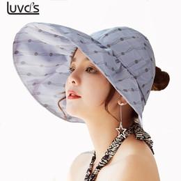 Fashion UV Sun Hat Summer Sun Hats For Women Straw Hat Girls Beach Organza  Cap Visors Caps Foldable Floppy 2428135f865