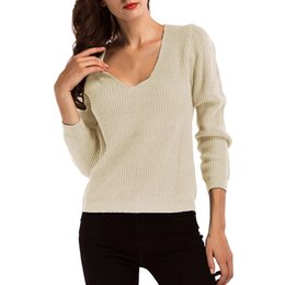 $enCountryForm.capitalKeyWord NZ - 2019 Autumn Winter Women Pullovers Sweater Thick Needle Long Sleeve Sweater Knitwear Loose Pullovers Jumper Pull Femme