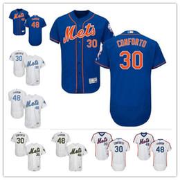1f38b252785fd Custom Hombres mujeres jóvenes Majestic New York Mets Jersey   30 Michael  Conforto 48 Jacob DeGrom Home Azul Gris Blanco Niños camisetas de béisbol