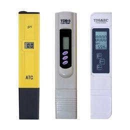 Ph Pens Wholesale Australia - Digital Display 0-14 Pocket Pen PH Aquarium Pool School Lab Food + TDS Meter + EC Tester Filter Water Purity Tester