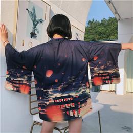 eb6eb8d8c4a Neploe Harajuku Kimonos Japanese Sun Protection Blouse Printing Causal  Kimono Cardigan Woman Summer Fashion Outwear 36011 Y19042902