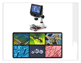 "electronic reading Australia - 600X 4.3"" LCD USB Digital Microscope Portable 8 LED 3.6MP VGA Electronic HD Video Microscopes Endoscope Magnifier Camera"