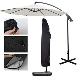 $enCountryForm.capitalKeyWord NZ - New Outdoor Garden Banana Umbrella Cover Waterproof Oxford Cloth Patio Overhang Parasol Rain Cover Accessories Rain Gear