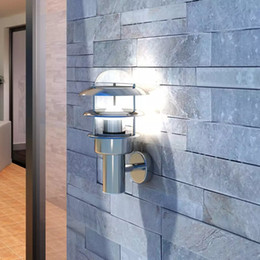 Waterproof IP44 Patio Wall Light Lamp Stainless Steel Fitted For Socket E27 on Sale