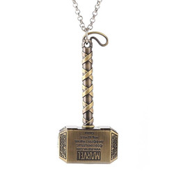 necklace fans 2019 - Thor Hammer Necklace Avengers Dark World Pendant Necklace Men Jewelry Fans Accessories Friendship Necklace discount neck
