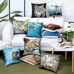 $enCountryForm.capitalKeyWord Australia - Customize Pillow Case 45*45 Animal Tiger Print Pillow Covers Brand Advertising Gift Sofa Car Chair Seat Case Decorative Cushion Covers