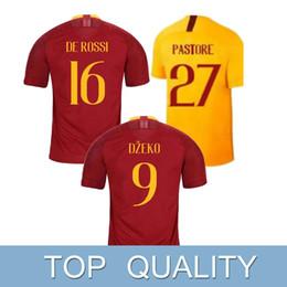 f09ec6b587f Soccer team club jerSey online shopping - ROMA DZEKO home soccer jerseys DE  ROSSI PEROTTI Away