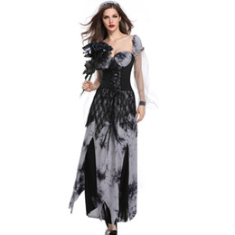 $enCountryForm.capitalKeyWord UK - Funny Halloween Costumes Horror Skull Zombie Costume Black Vampire Ghost Bride for Women Halloween Party Cosplay Devil