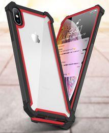 Motorola X Cases Australia - Transparent Clear Hybrid TPU PC Armor Shockproof Case For iPhone XS MAX XR X 8 7 6 Samsung S8 S9 Plus S10 S10e Note 9 J3 J7 2018 LG Stylo 4
