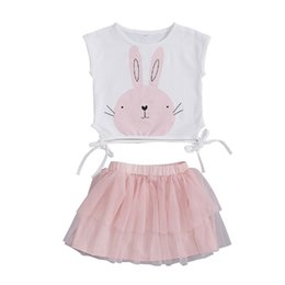Discount tutu party boys - 6M-5T 2PCS Baby Girls Toddler Easter Bunny Sleeveless Shirt Tops Vest Tutu Skirts Party Outfit Cute Lovely Clothes Set