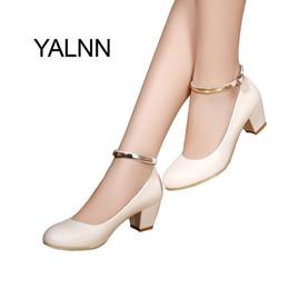 $enCountryForm.capitalKeyWord Australia - 2019 Dress YALNN Women's 5cm High Heels Pumps Office Lady Women Shoes Sexy Bride Party Thick Heel Round Toe Leather High Heel Shoes