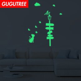 crystal sticker decals Australia - Decorate Home Diy bird animal cartoon art glow wall sticker decoration Decals mural painting Removable Decor Wallpaper G-606