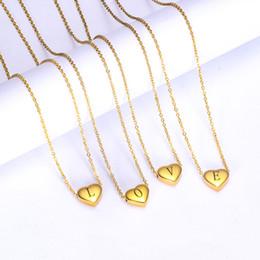 $enCountryForm.capitalKeyWord Australia - 26 Letters Initial Necklace Gold Color Love Heart Alphabet Women Men Collier Necklace Pendant Friends Family Letter Necklace Jewelry