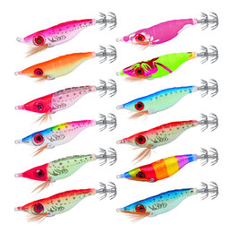 $enCountryForm.capitalKeyWord Australia - Mix Coloful Painted Artificial Realistic shrimp Squid fishing lure 10cm 8.5g Noctilucent Tail Prawn octopus bait Jigging Hook