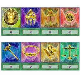 Puzzles cards online shopping - 20pcs set Yugioh Millennium Items Anime Style Ancient Egyptian Symbol Seven Treasures Puzzle Custom Spell Card Childhood Memory